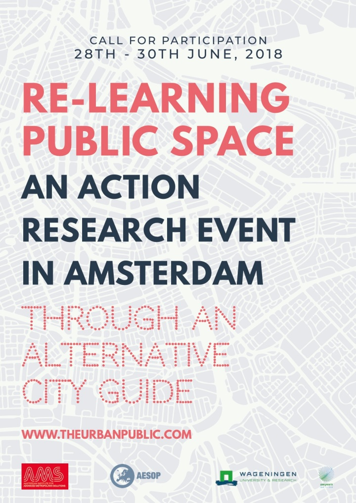 Re-learning Public Spaces Summer School | 28th June – 30th June and July 3rd 2018